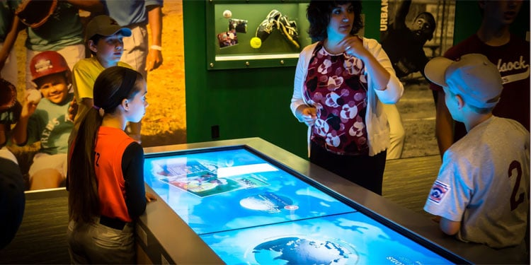 Little League Museum: Global Connections Touch Table