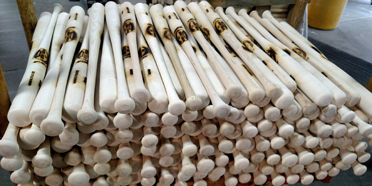 Louisville Slugger baseball bats unfinished