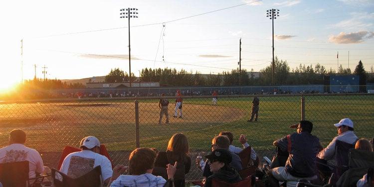 Midnight Sun Baseball Game, Fairbanks, Alaska