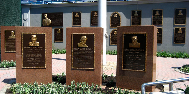 Monument Park in Yankee Stadium