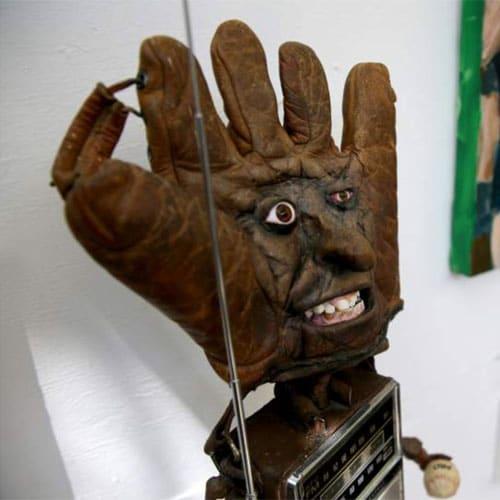 Patrick Amiot Junk Art – Baseball Glove Face