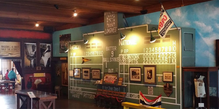 Roberto Clemente Museum scoreboard