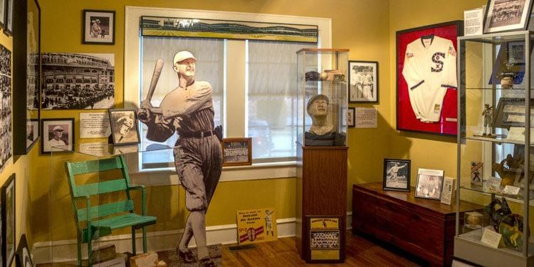 Shoeless Joe Jackson Museum Exhibit