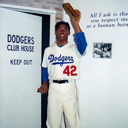 Heroes of Baseball Wax Museum: Jackie Robinson