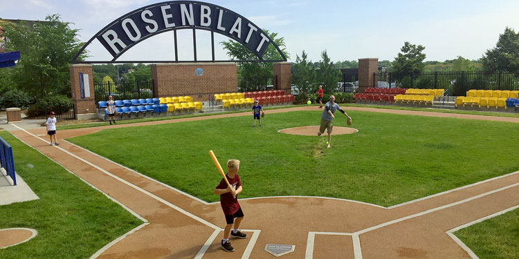 Infield at the Zoo – Rosenblatt Stadium