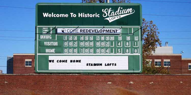 Stadium Lofts Scoreboard