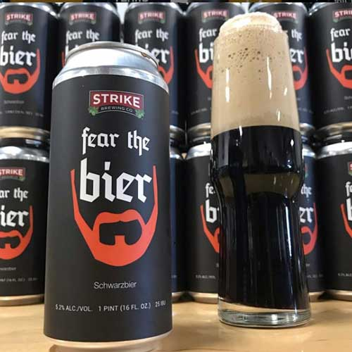 Fear the Bier Dark Schwarzbier - Strike Brewing Co.