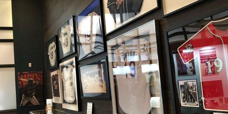 Tony Gwynn Museum Jersey Display