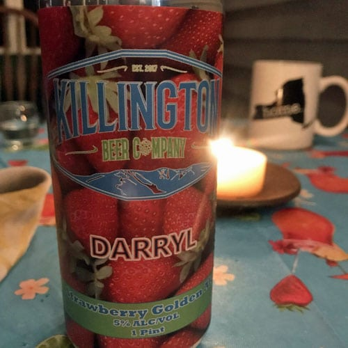 Darryl Strawberry Golden Ale by Killington Beer Company