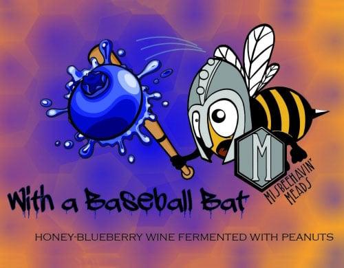 With a Baseball Bat Blueberry
