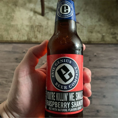 Evil Genius Beer - You're Killin' Me Smalls Raspberry Shandy bottle