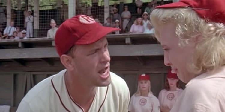 """Tom Hanks: """"There's No Crying In Baseball""""{"""