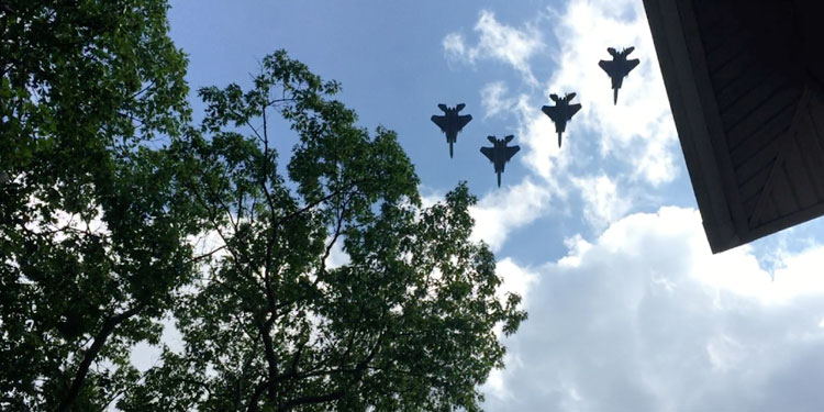 F15 Fighter Jets Over Medford, Mass