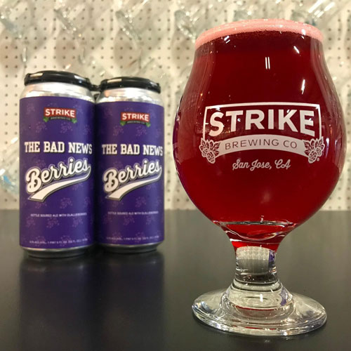 The Bad News Berries, Kettle Sour by Strike Brewing