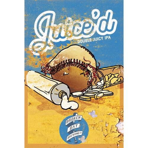 Juic'd Juicy Hazy IPA by Broken Bat Brewing