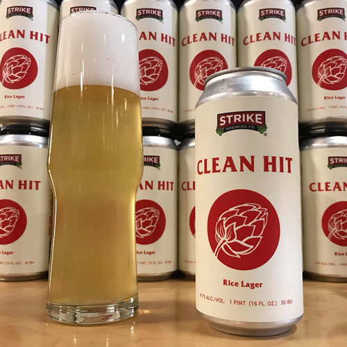 Clean Hit Rice Lager by Strike Brewing