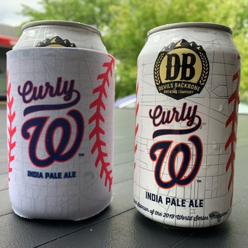 Curly W IPA Cans by Devil's Backbone