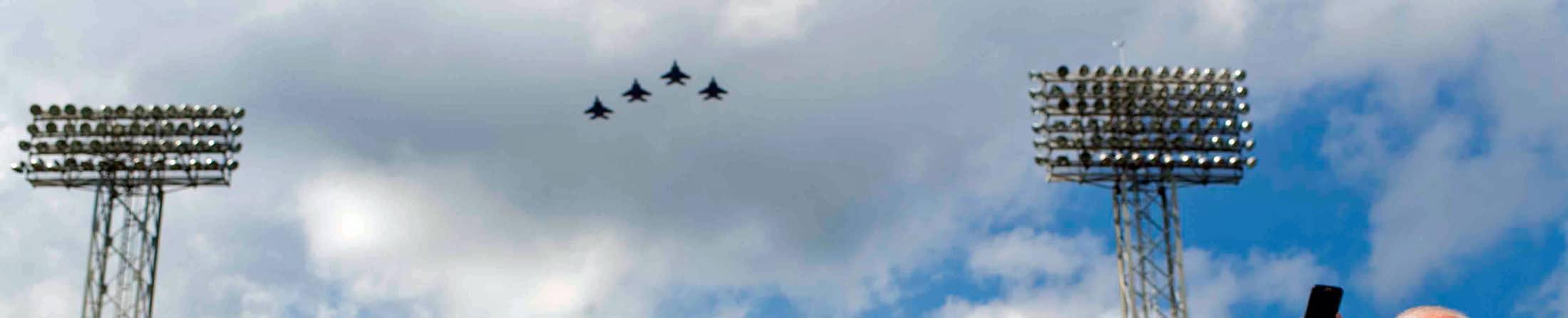F-15 Flyover at Fenway Park in Boston