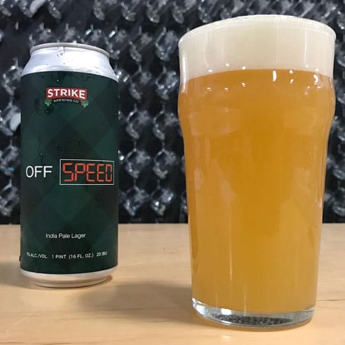 Off Speed India Pale Lager by Strike Brewing