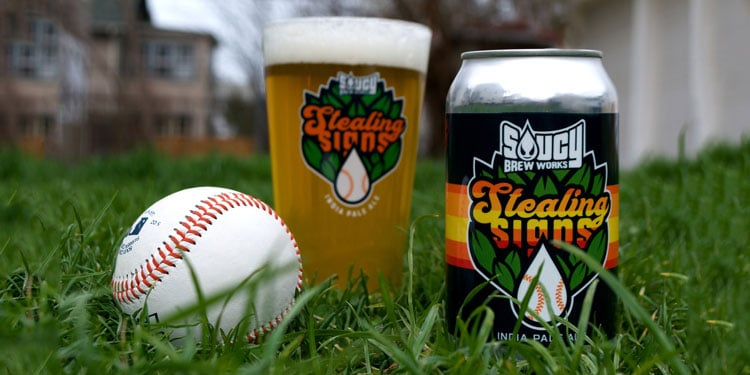 Stealing Signs IPA on the Lawn by Saucy Brew Works