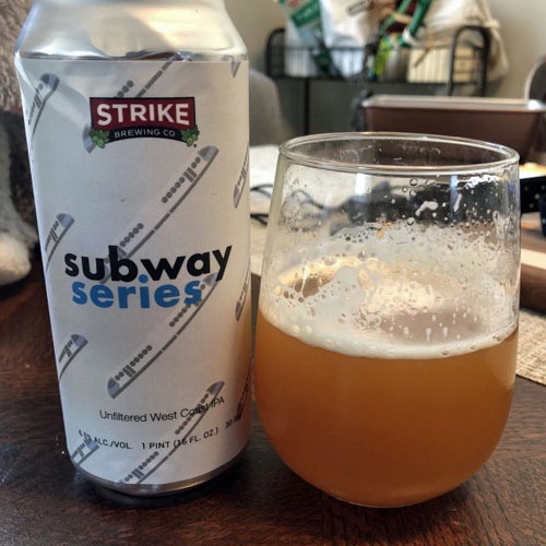 Subway Series Unfiltered West Coast IPA by Strike Brewing
