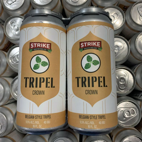 Tripel Crown Belgian Style Tripel by Strike Brewing