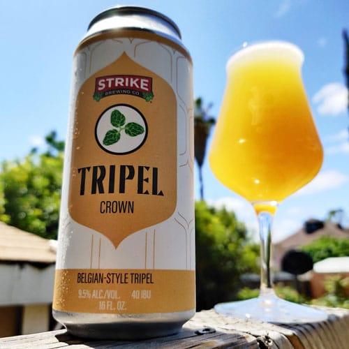 Winning the Tripel Crown, a baseball beer by Strike Brewing