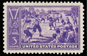 Centennial of Baseball, U.S. Postage Stamp – 3¢