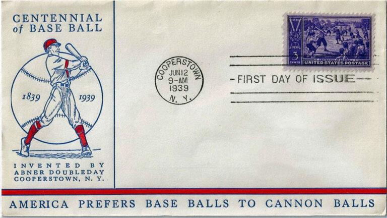 Centennial of Baseball, U.S. Postage Stamp FDC