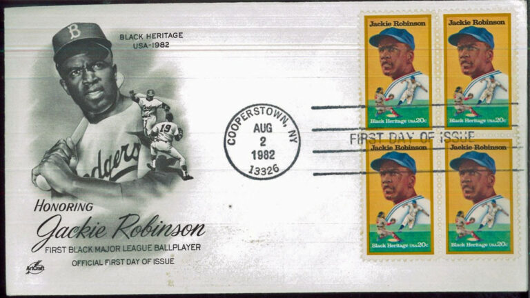 Jackie Robinson, 1982 U.S. Postage Stamp FDC