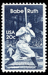 Babe Ruth, 1983 U.S. Postage Stamp – 20¢