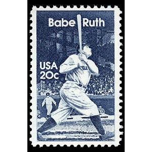 Babe Ruth, 1983 U.S. Postage Stamp – 20¢