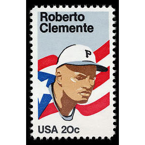 Roberto Clemente, 1984 U.S. Postage Stamp – 20¢