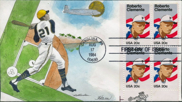 Roberto Clemente, 1984 U.S. Postage Stamp FDC