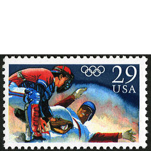 Baseball, 1992 Olympic Summer Games, U.S. Postage Stamp – 29¢