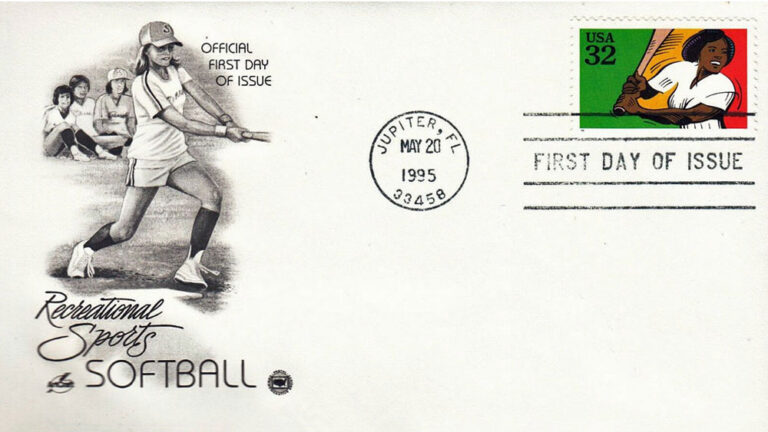 Softball, Recreational Sports, U.S. Postage Stamps FDC