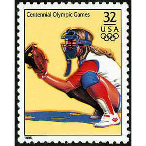 Women's Softball, 1996 Summer Olympics, U.S. Postage Stamp – 32¢
