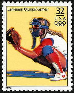 Women's Softball, 1996 Summer Olympics, U.S. Postage Stamp – 32¢