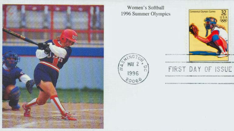 Women's Softball, 1996 Summer Olympics, U.S. Postage Stamp FDC