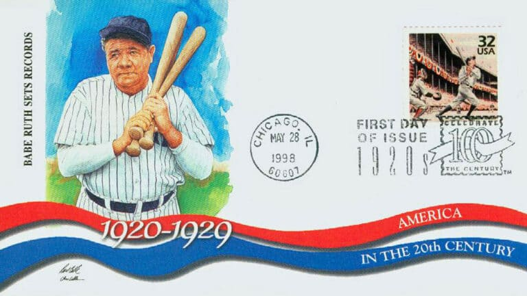 Babe Ruth, Celebrate the Century U.S. Postage Stamp FDC