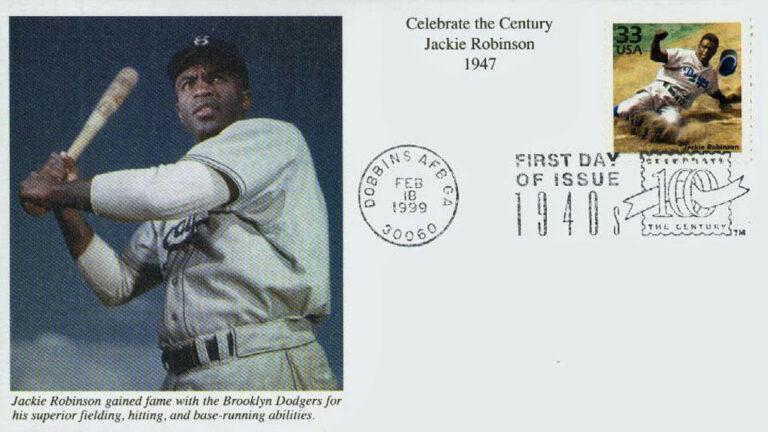 Jackie Robinson, Celebrate the Century U.S. Postage Stamp FDC