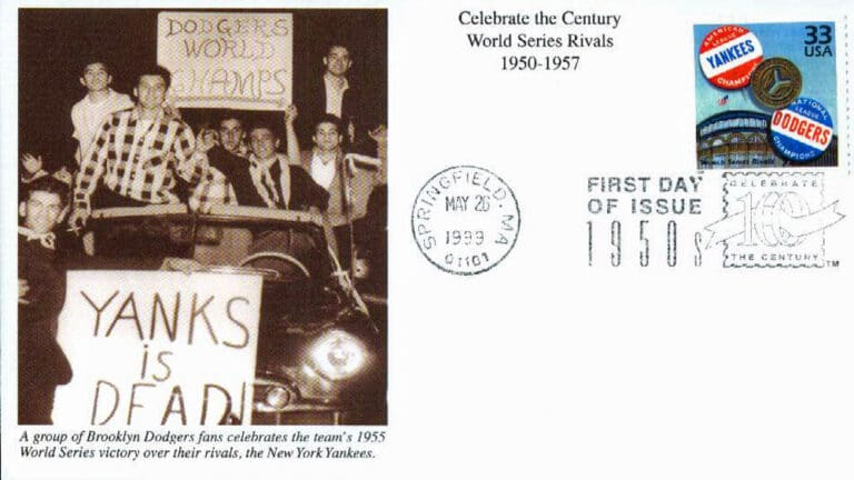 World Series Rivals, Celebrate the Century U.S. Postage Stamp FDC