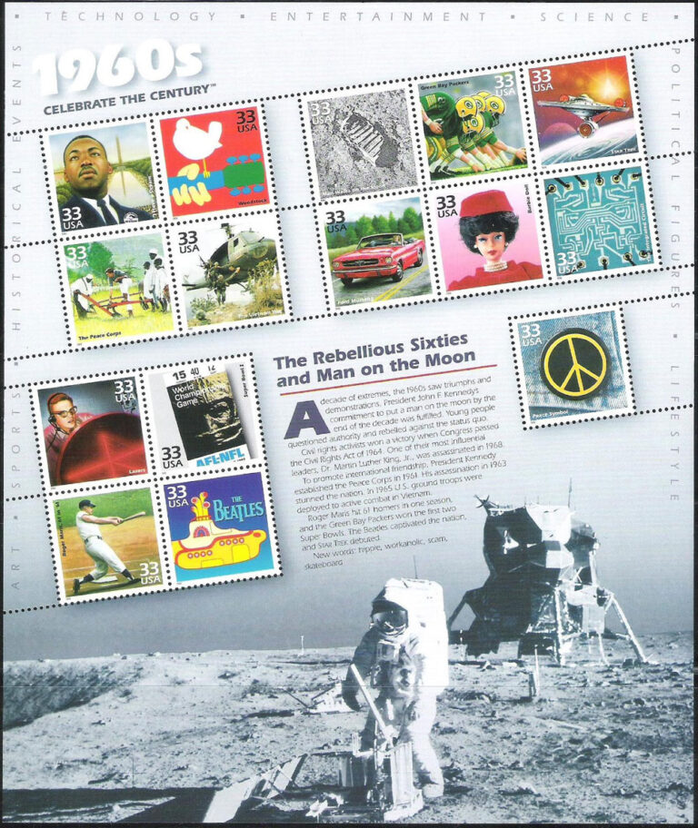 Celebrate the Centuries (1960s), U.S. Postage Stamp Sheet