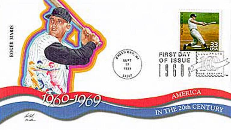Roger Maris, Celebrate the Century U.S. Postage Stamp FDC