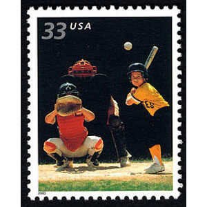 Baseball, Youth Team Sports U.S. Postage Stamp – 33¢