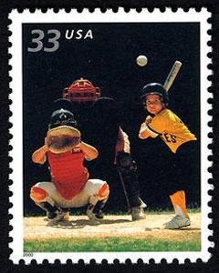 Baseball, Youth Team Sports U.S. Postage Stamp – 33¢