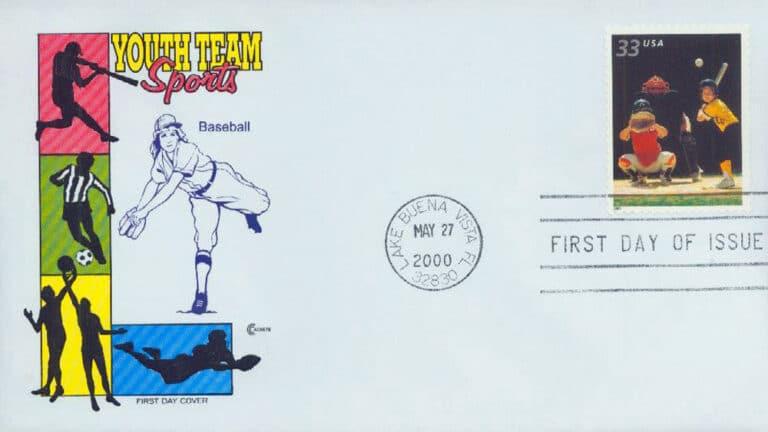 Baseball, Youth Team Sports U.S. Postage Stamp FDC