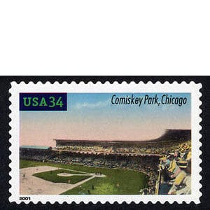 Comiskey Park, Legendary Playing Fields, U.S. Postage Stamp – 34¢