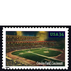 Crosley Field, Legendary Playing Fields, U.S. Postage Stamp – 34¢