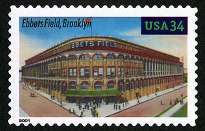 Ebbets Field, Legendary Playing Fields, U.S. Postage Stamp – 34¢